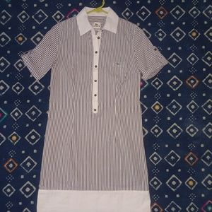 Lacoste stripe shirt dress